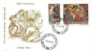 FDC-Filagrano-Italia-1970-Natale-NVG-annullo-Varese