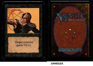 MRM-ENGLISH-Unholy-Strenght-Good-MTG-magic-ALPHA-UNH01LEA