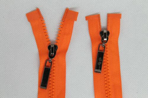 2 Wege Reißverschluss Kunststoff Zipper Nummer 5 grobe Zähne teilbar 100 cm