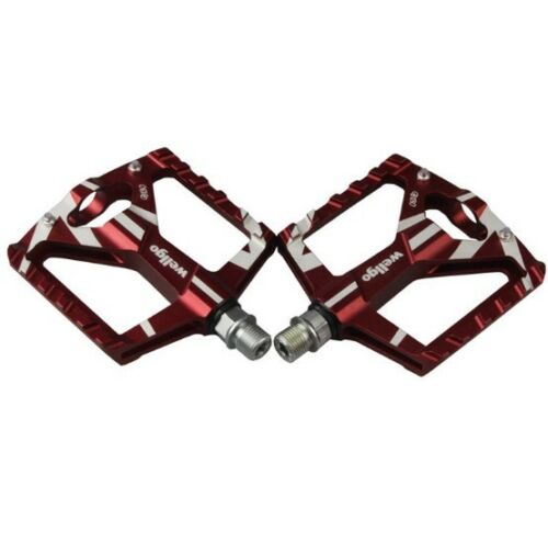 Red 1Pair Aluminum Pedals Trekking MTB Bike Pedal 2 DU Bearing Wellgo B130