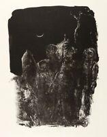 JOHANNES HEISIG - Drei Knaben und der Mond - Lithografie 1992