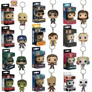 Funko Pocket Pop! Keychain Baby Groot, Batman, DeadPool Vinyl Figure Keyring Hot