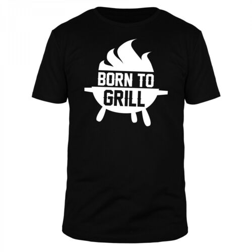 FABTEE Born to Grill Grillen BBQ Bratwurst Steak Fleisch Männer Fun Shirt
