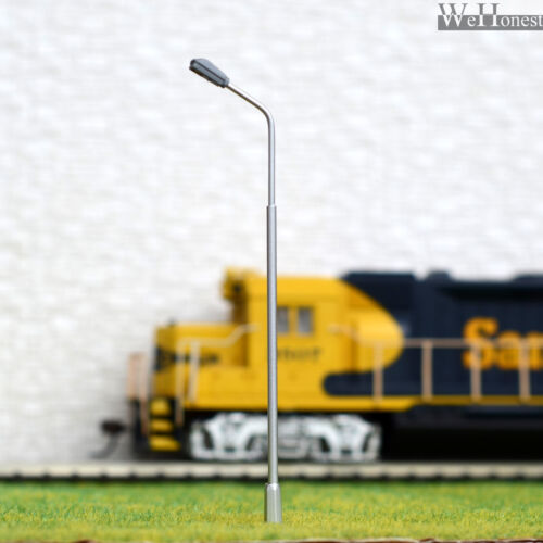 10 X 1:72 Model Railway Train Lamp Post 00 Gauge Plastic Street Lights LED