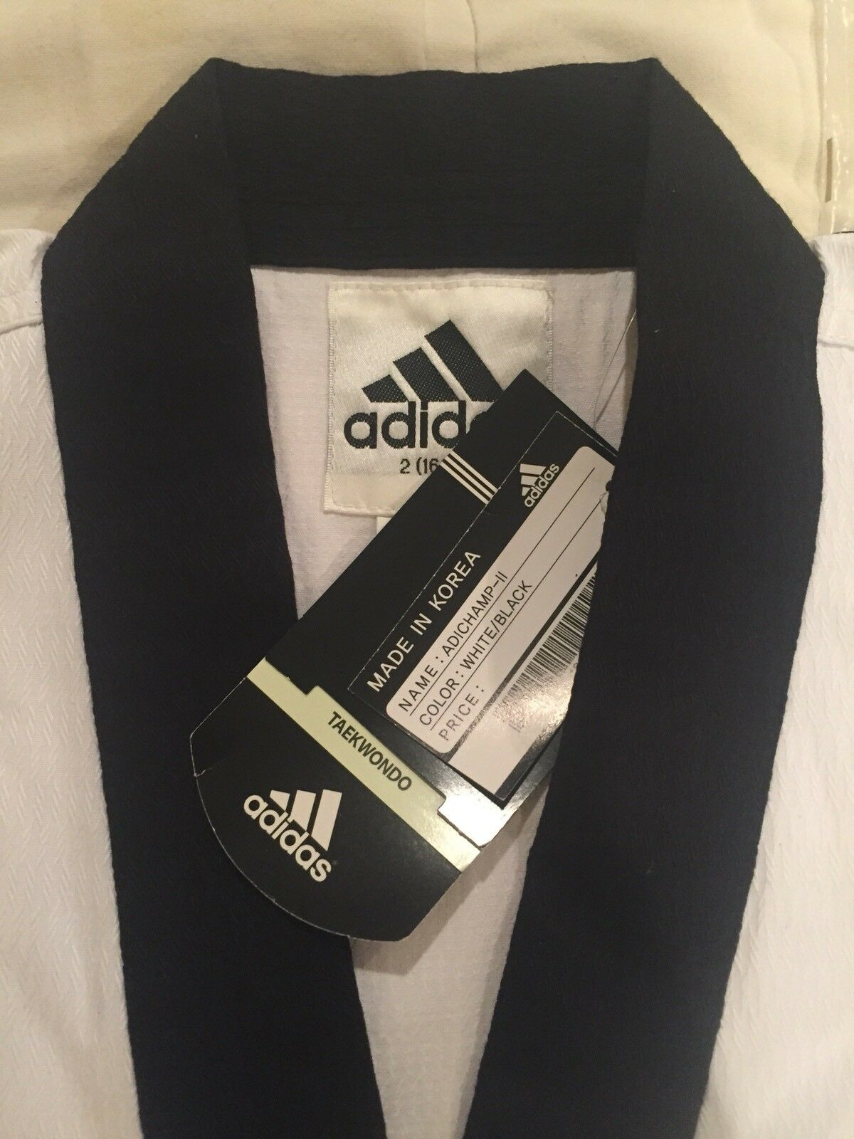 NEW NIP Adidas TaeKwonDo 2-pc uniform - adult Sz 2   160cm Made In Korea