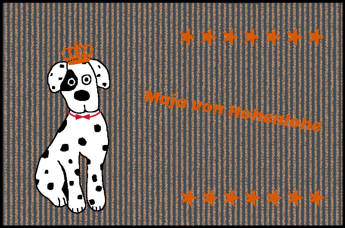 Fußmatte mit mit mit Namen Napfunterlage Hundematte  90x60 cm  Design 27180132    New Style  ca2409