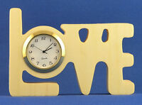 Love Mini Clock - Hand Cut W/ Choice Of Insert