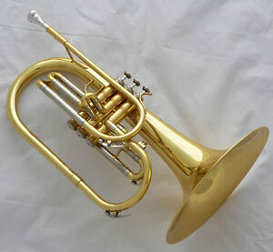 Professional-JINBAO-Gold-Lacquer-Mellophone-F-Key-horn-with-case