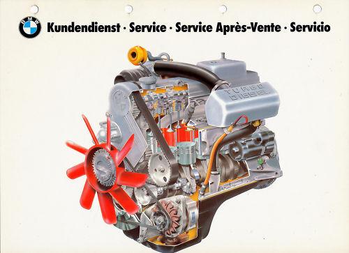 100% Vero Bmw Servizio Clienti Immagine Da Tavola - 3 1985 (?) Plate Auto Technik Tecnica Info Tecniche