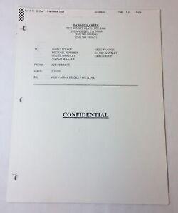 DAWSON-039-S-CREEK-set-used-paperwork-EPISODE-OUTLINE-Season-6-Episode-21