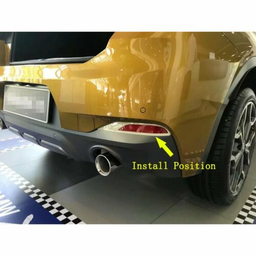 For BMW New X2 2018 2019 Chrome Rear Fog Light Lamp Cover Trims ABS