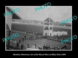 OLD-LARGE-HISTORIC-PHOTO-OF-MANKATO-MINNESOTA-THE-SIBLEY-PARK-BICYCLE-RACE-1890
