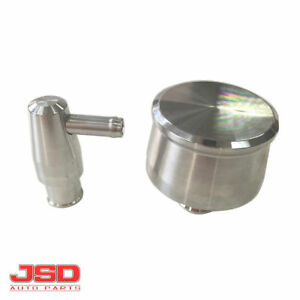JSD 6008 Polished Aluminum Smooth PCV Valve Cover Breather Chevy Ford 350
