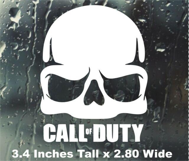 Call Of Duty Vinyl Sticker Decal Skull Modern Warfare Black Ops