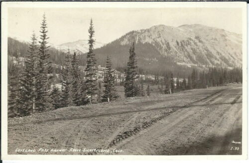 AZ049 Loveland Pass Highway, Colorado, 1920's1930's Real Photo Postcard RPPC