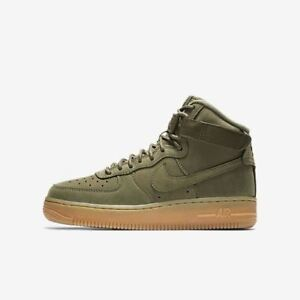 Nike Air Force 1 High WB (GS) 922066 202 Olive Gum Big Kids SZ 4
