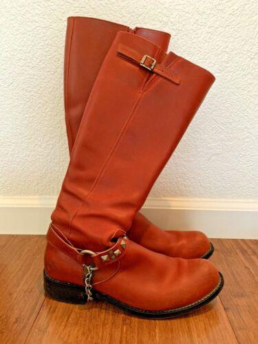 Rare John Fluevog Women's Red Boots With 'Spurs' -