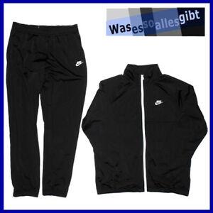 SCHNAPPCHEN-Nike-Sportswear-Tracksuit-schwarz-weiss-Gr-L-T-1109
