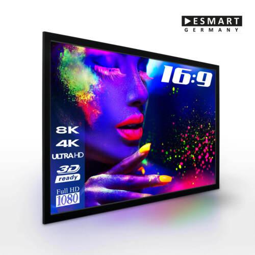 "16:9 eSmart Germany Akustik-Rahmen Leinwand MIRALE 186 x 105 cm 84/"""