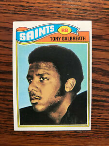 1977 Topps #257 Tony Galbreath Football Card Rookie RC New Orleans Saints Raw