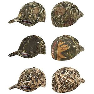FLEXFIT Mossy Oak Infinity Camo Hats NEW Fitted Camouflage Cap S M L ... 83af1623922f
