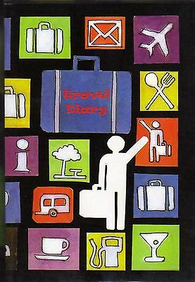 TRAVEL DIARY Journal World Maps Trip Holiday A5 Slipcover Checklist Suitcase new