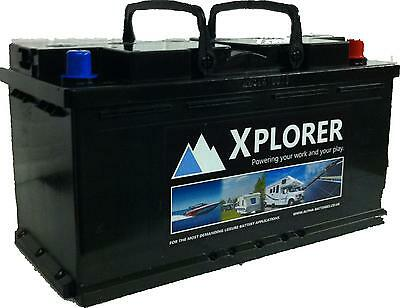Pair of 12V Xplorer 100 AH AGM Leisure Batteries UItra Deep Cycle. 5 Year Gtee