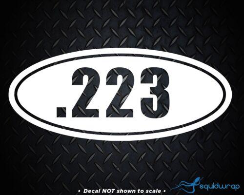 ".223 M16 AR-15 Ammo Decal vinyl sticker 6/"" long"