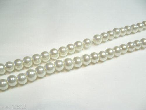 Pcs x Verre Perle 8 mm Perles rondes #66A Ivoire 100