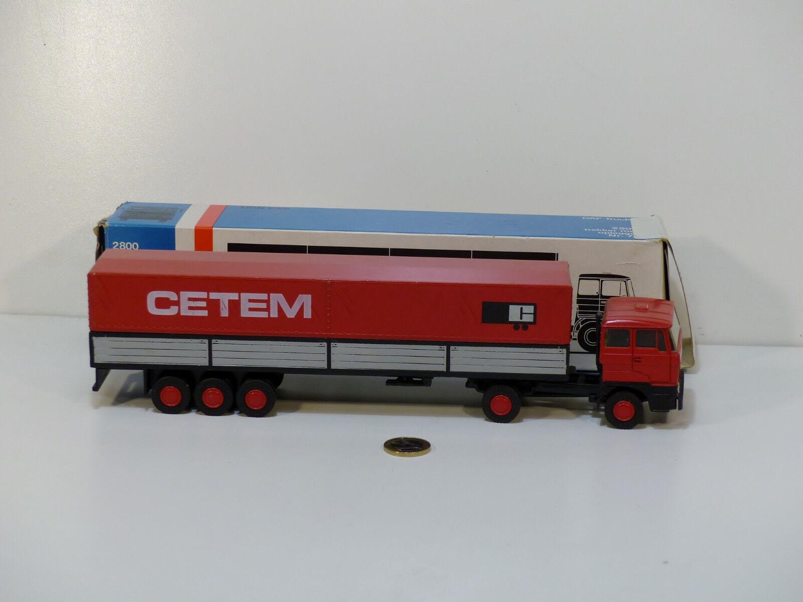 Lion Car n° 70 Daf 2800 Semi Remorque   CETEM    EXC. avec Boîte (A21)