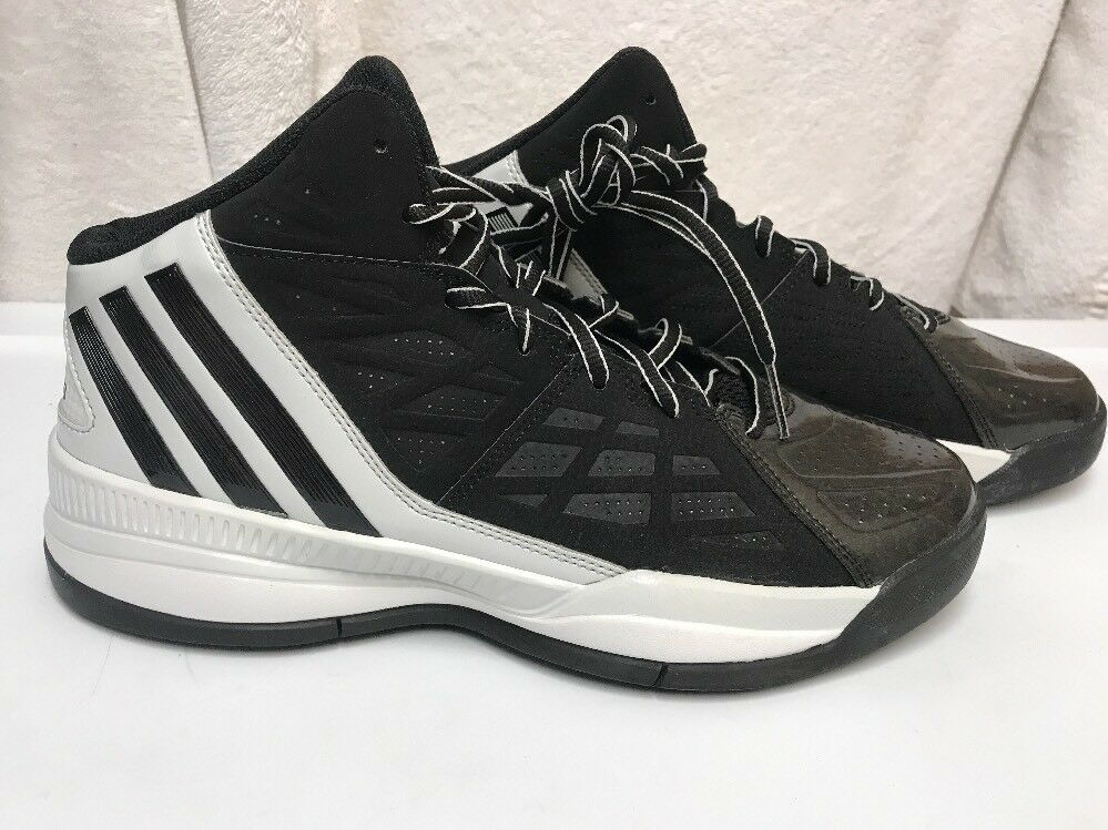 Adidas Men's Own The Game Basketball shoes Black Right shoes 10.5 Left shoes 10