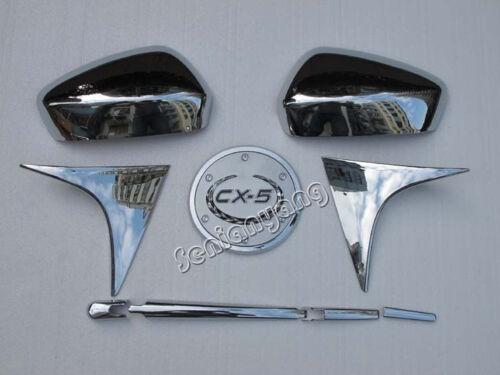 Rear Wiper Cover Trims Side Dualis for 2012-2014 Mazda CX-5 Mirror Cap Tank Set