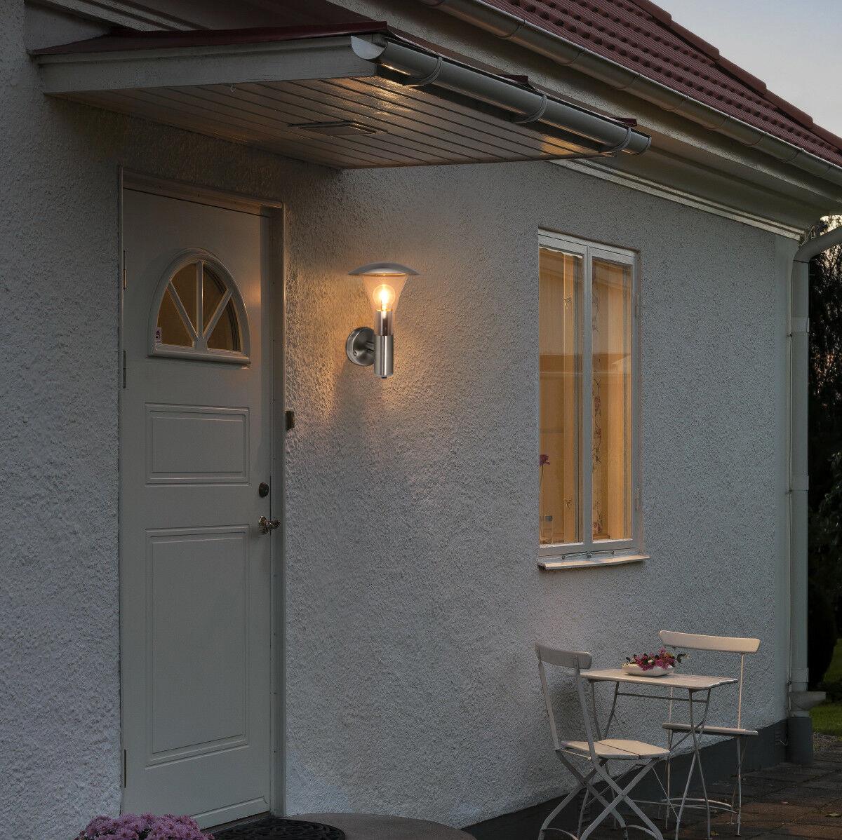 Dusk Till Dawn Sensor Outdoor Single Wall Light Stainless ...