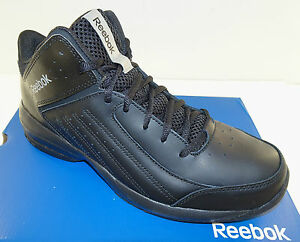 7217573eafe9aa REEBOK First Quarter Attack Men s Basketball Shoes Black NEW Medium ...