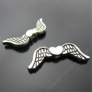 20x-Retro-Tibetan-Silver-Angel-wings-Spacer-Beads-Findings-Jewellery-Making-N195