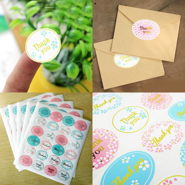 120pcs oval round 2 5cm thank you paper chiratmas party labels seal stickers