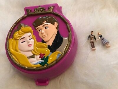 1995 Vintage Polly Pocket- Bluebird Disney Sleeping Beauty Compact Play Set RARE