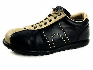 25c0ab42bf36 Camper Pelotas Mens Trainers Two Tone Black Beige Shoes Size EU.41 ...