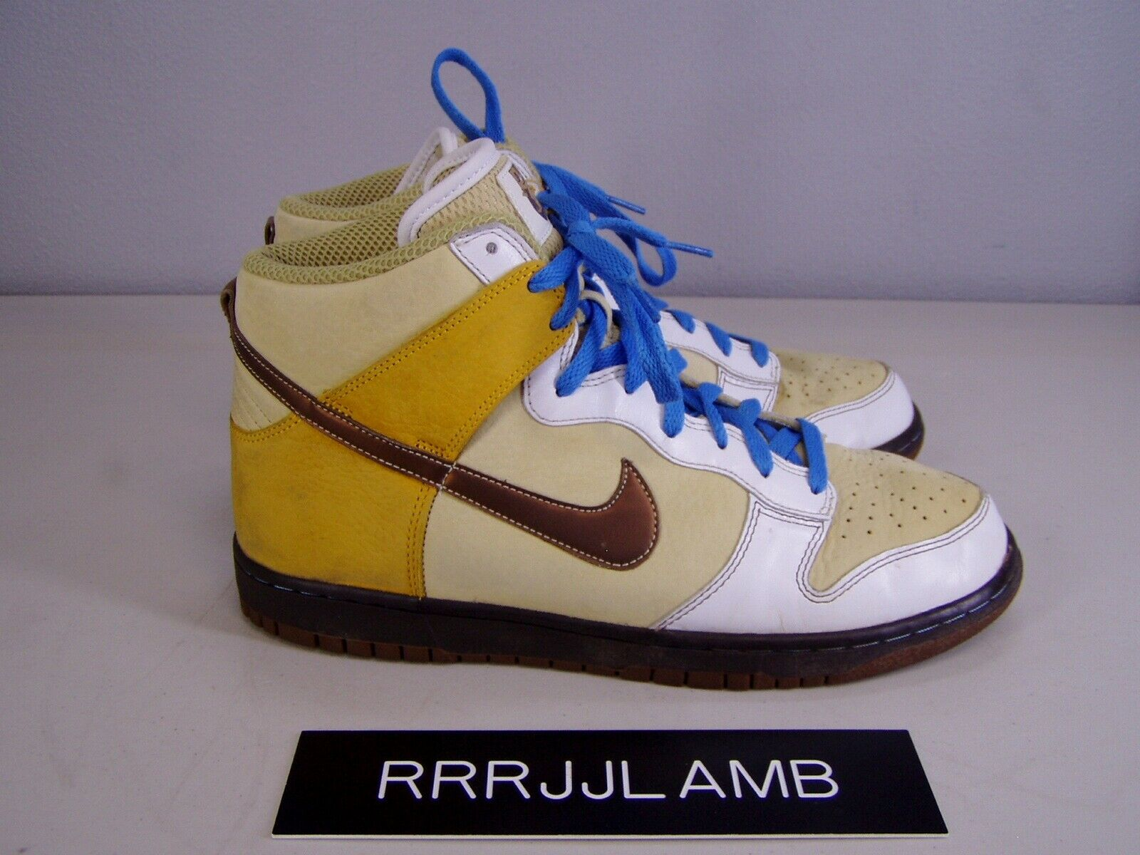Nike Dunk High Premium Vegas gold Bison White Hi Top SHOES Mens 10.5  306968-721