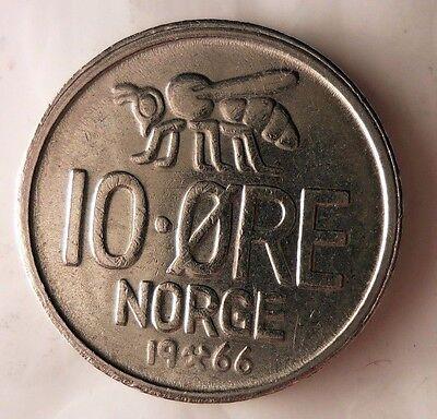 Free Shipping HONEY BEE Norway Bin #3 1973 NORWAY 10 ORE