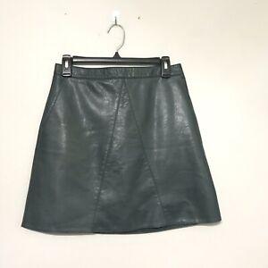 1b7b909d81 Zara Basic Skirt Size Medium Faux Leather High Waisted Green Chic | eBay