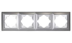 Gunsan-Visage-4-fach-Rahmen-Steckdosen-Schalter-Dimmer-Silber-1281500000145