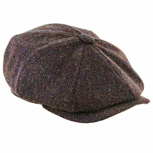 Genuine Harris Tweed Peaky Blinders 8 Piece Cap Quilted Lining ZH028