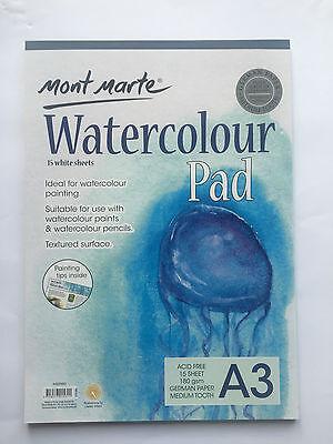 2x Mont Marte A4 Watercolour Pad 12Sheets Art Painting Texture German Paper