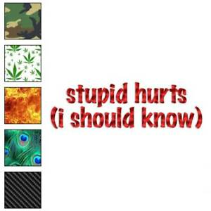 Stupid-Hurts-I-Should-Know-Decal-Sticker-Choose-Pattern-Size-3602