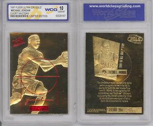 1997-MICHAEL-JORDAN-FLEER-ULTRA-Court-Masters-23K-GOLD-CARD-GRADED-GEM-MINT-10