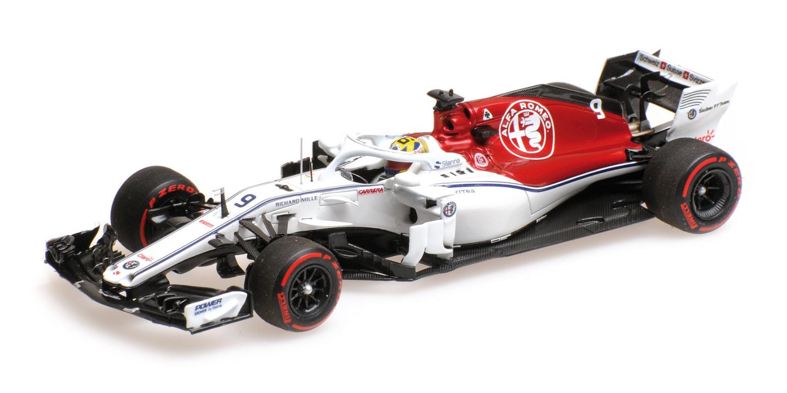 Minichamps F1 Alfa Romeo Sauber C37-Ferrari Marcus Ericsson 1 43 Monaco GP 2018