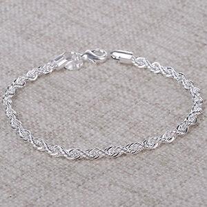 Silber armband  Neu Damen Silberarmband Armband 925 Silber plattiert Geschenk ...