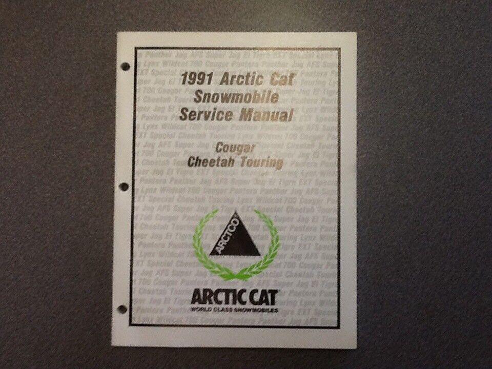 ARCTIC CAT OEM SERVICE MANUAL 1991 COUGAR CHEETAH TOURING 2254-645