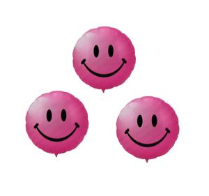 3x Smiley ballon helium air diapositives Ballon Fête Anniversaire Enfant Rose * * RM